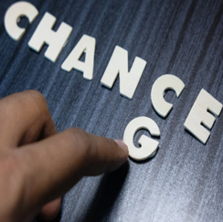 The word chance changing to change