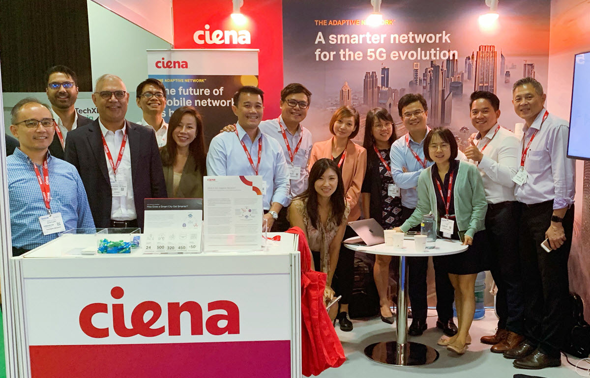 The Ciena team at 5G Asia in Singapore