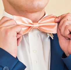 Man with pink bowtie