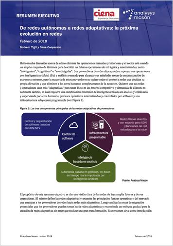Resumen ejecutivo de Analysys Mason: De redes autónomas a redes adaptativas