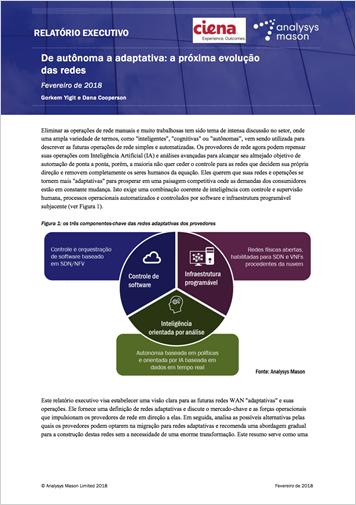 Relatório executivo da Analysys Mason: de autônoma a adaptativa