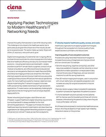 Applying Packet Technologies to Modern Healthcare