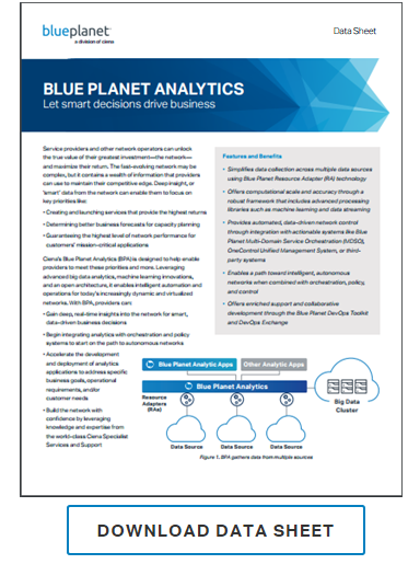 Blue Planet Analytics data sheet preview promo