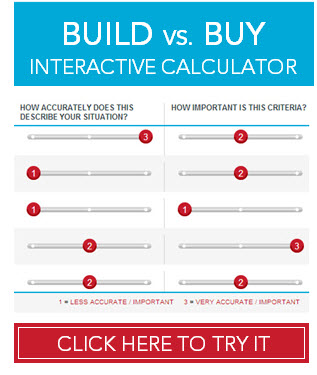 Build vs. Buy interactive calculator