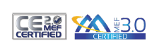CE 2.0 MEF and MEF 3.0 Certified logos