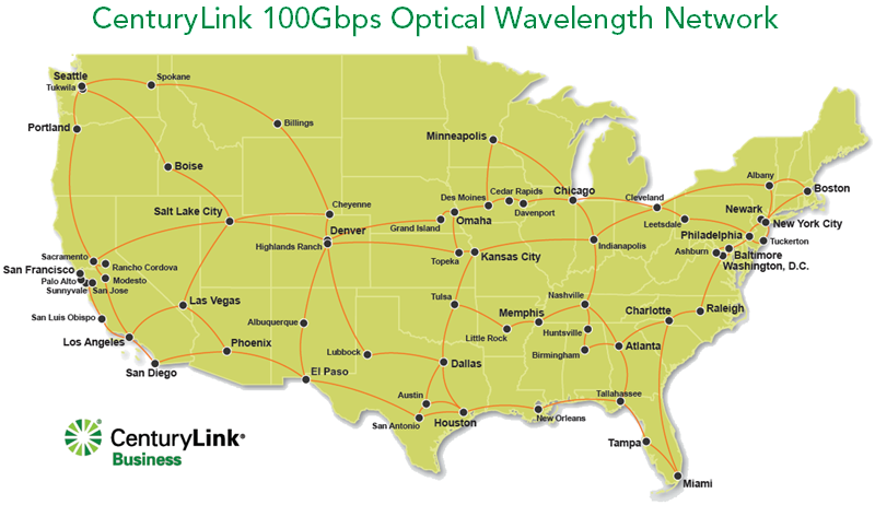 network and offer high sd services including 100g and equivalent wavelengths to businesses in the united states and in select international cities