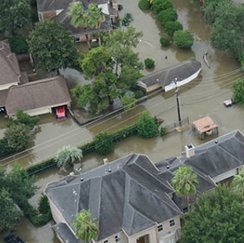 Ciena cares: flood image from above