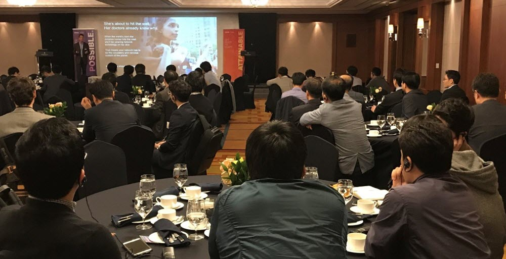 A Ciena Drive roadshow session in Korea, one of six across the Asia-Pacific region