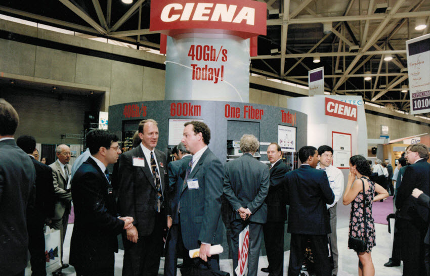Ciena booth SuperComm 1996