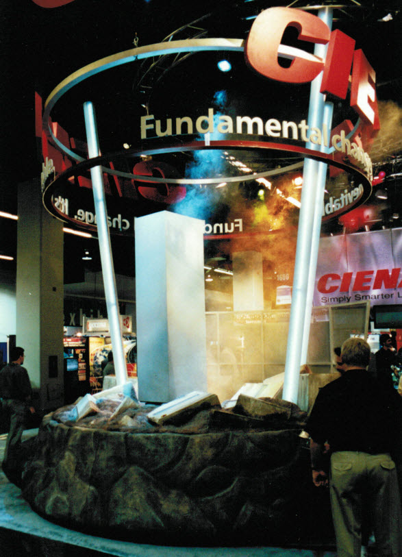 Ciena booth SuperComm 2001