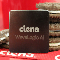 Ciena WaveLogic Ai with oreo cookies