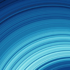 Blue wave abstract image