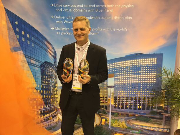 Fady Masoud displays Lightwave awards