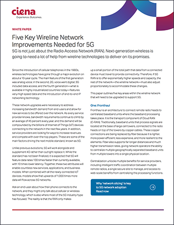 White Paper - 5 Key Wireline Network Improvements Needed for