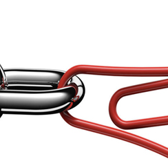 Paper clip as a link in a chain