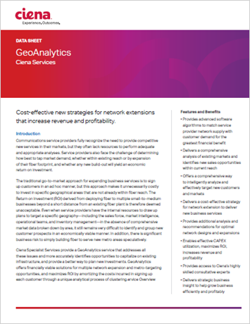 GeoAnalytics Service product data sheet