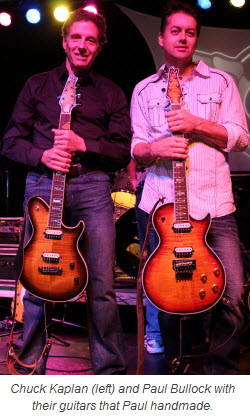 Chuck Kaplan and Paul Bullock with guitars