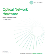 IHS Market Optical Network Hardware Vendor Scorecard