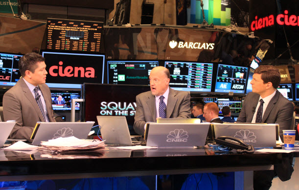 Jim Cramer and the CNBC team discussed Ciena during the opening bell.