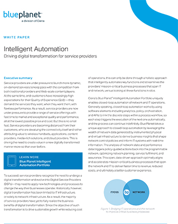 Intelligent Automation: Driving Digital Transformation for Service Providers
