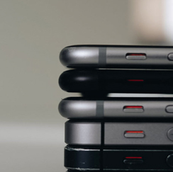 Stack of old to new iPhones