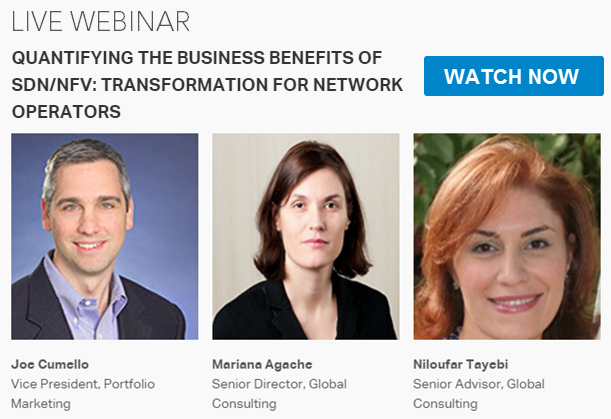 Quantifying the business benefits of SDN/NFV webinar promo