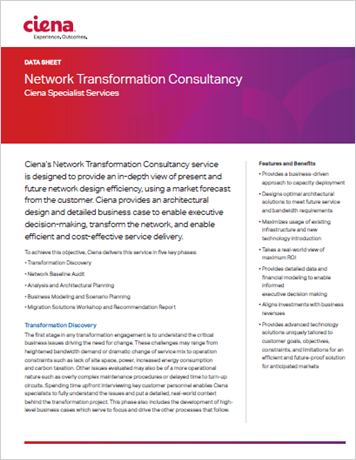 Network Transformation Consultancy data sheet
