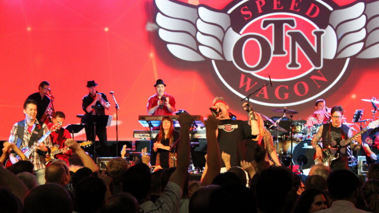 OTN Speedwagon plays to a full house at Ciena's annual sales conference