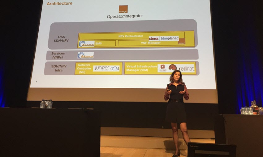 Nathalie Amman, SDN/NFV Program Leader at Orange France, presents