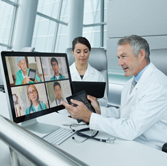 Doctor video conference