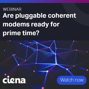 Image to promote webinar - are pluggable coherent modems ready for primte time?