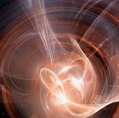 Light swirls in space
