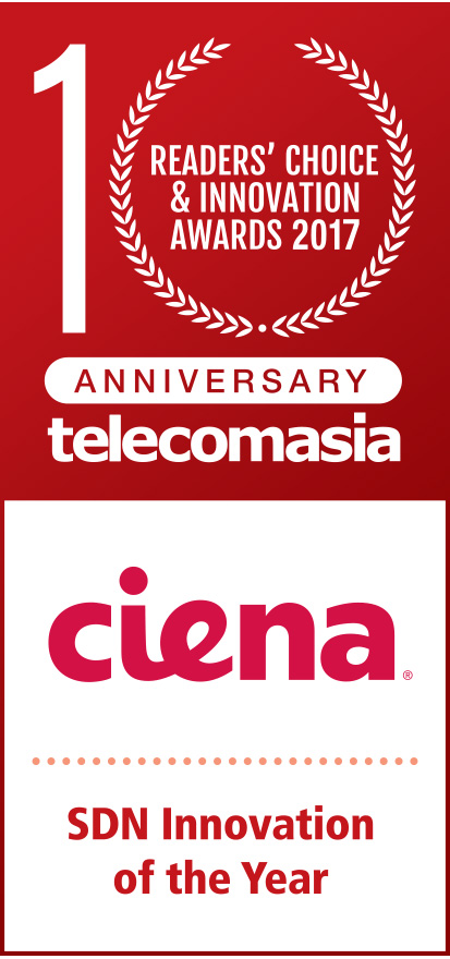 Readers' Choice & Innovation Awards 2017 Ciena SDN Innovation of the Year logo
