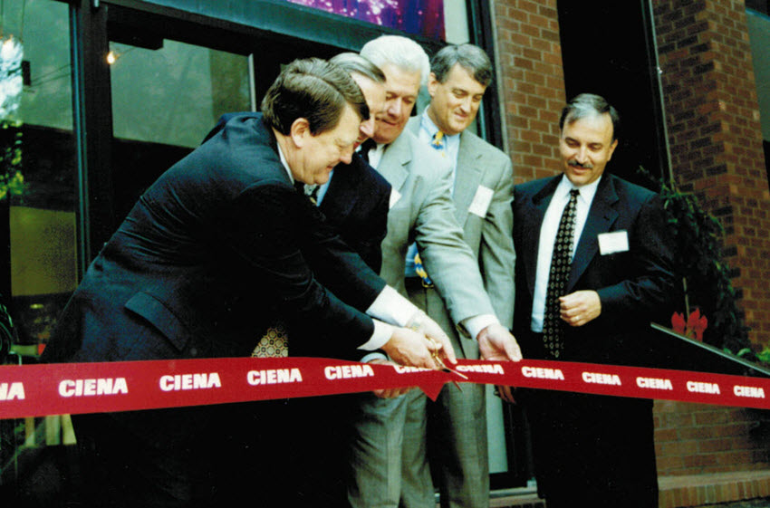 Ciena ribbon cutting