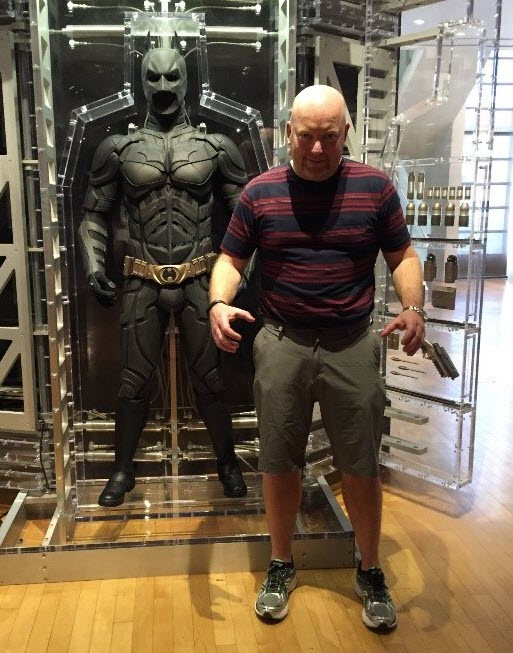 Kevin Sheehan and batman suit