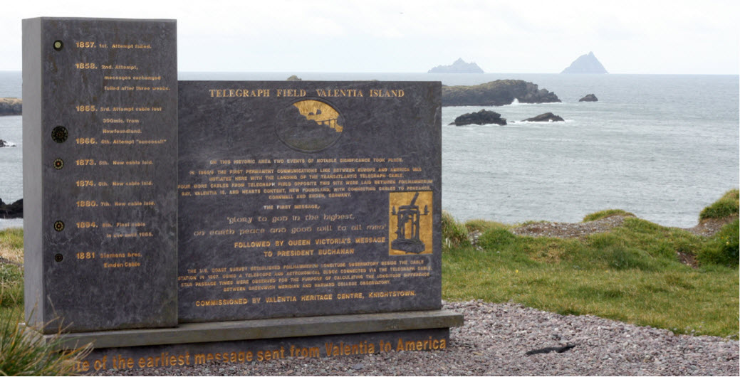 Telegraph Field Commemorative Monument on Valentia Island, Ireland