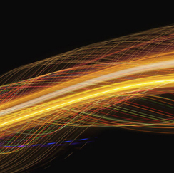 Yellow and orange streaks of light
