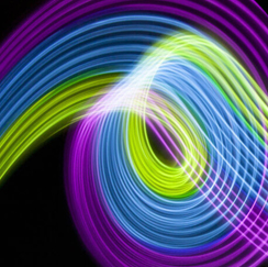 Colorful waves of light