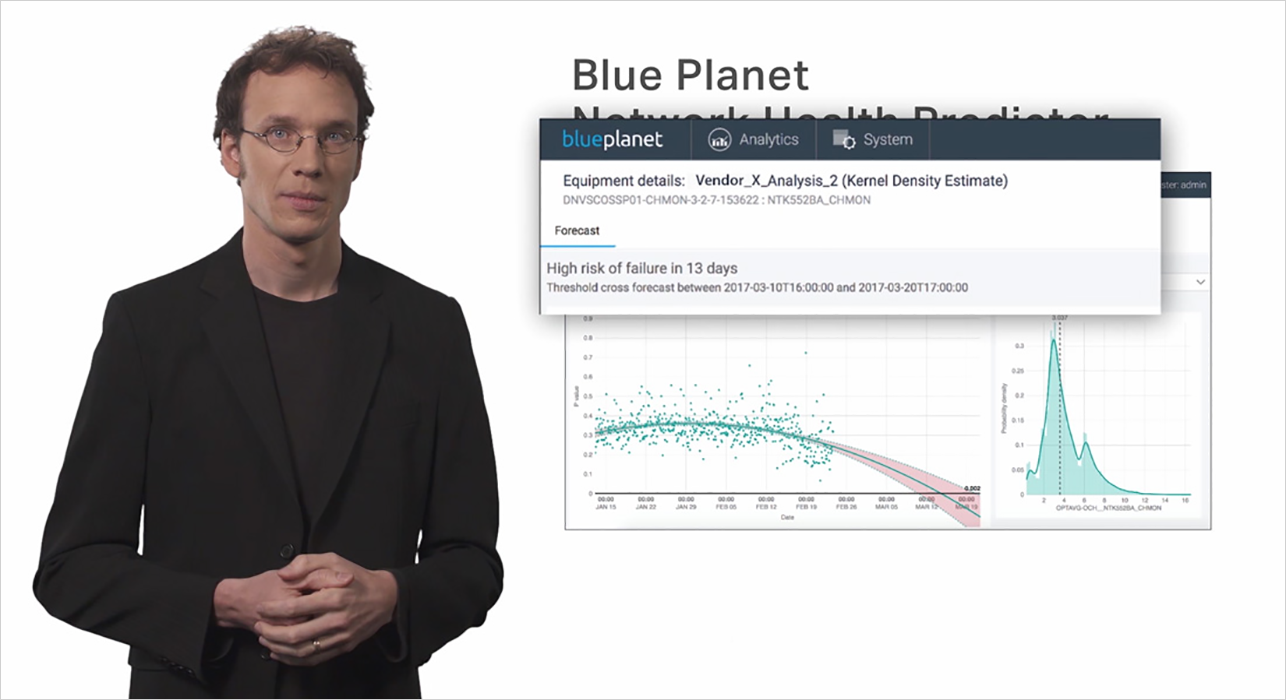 Blue Planet Analytics video thumb (Man standing and a white display screen)