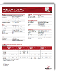 DragonWave Horizon Compact product data sheet