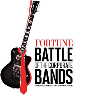 Fortune battle of the corporate bands guitar logo.