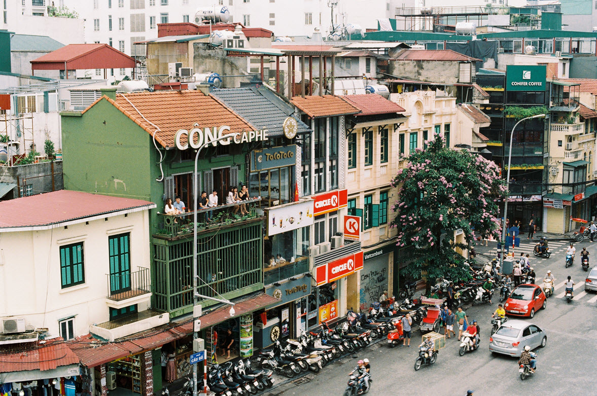 Street in Hanoi Vietname. Photo by Vy Nguyen