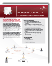 DragonWave Horizon Compact+ product data sheet