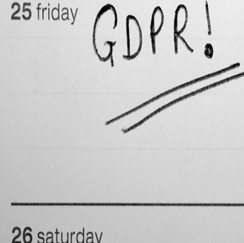 GDPR marked on calendar