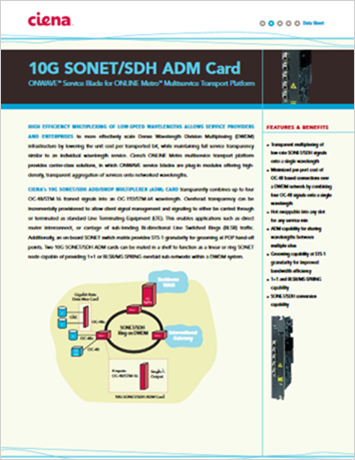 10G SONET/SDH ADM Card data sheet