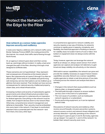 Thumbnail for MeriTalk: Protect the Network from the Edge to the Fiber infobrief