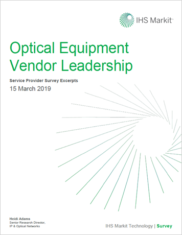 2019 IHS Markit Optical Vendor Service Provider Leadership Survey Excerpt thumbnail