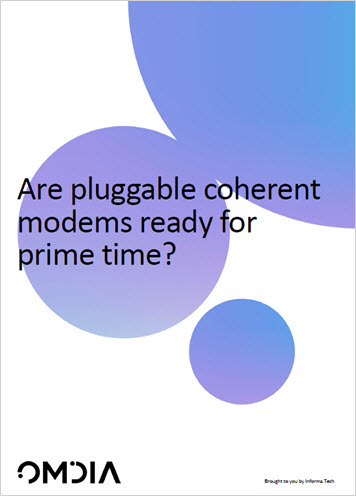 Omdia Report: Are pluggable coherent modems ready for prime time? whitepaper thumbnail