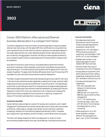 3903 Platform Datasheet preview