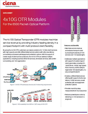4x10G OTR Modules - product datasheet